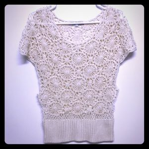 Knitted flower top